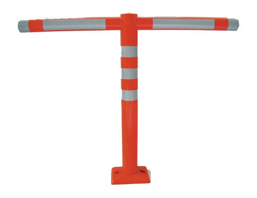歩行者や自転車の横断を防ぐ簡易柵