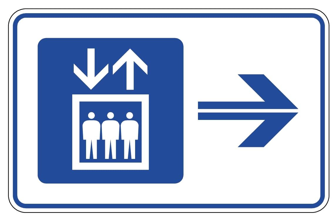 街の景観と調和する施設案内標識